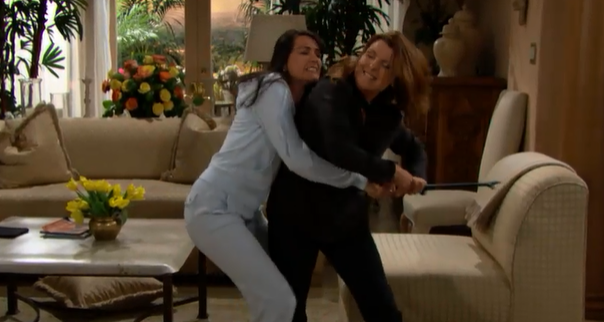 Sheila and Quinn fighting